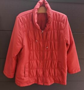 Anorak Steppjacke Gr. 46 Farbe Koralle Übergangsjacke leicht Damenjacke