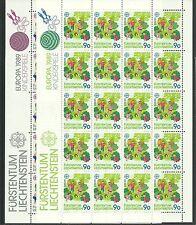 CEPT 1989/ Liechtenstein MiNr 960/61 ** 2 Kleinbogen