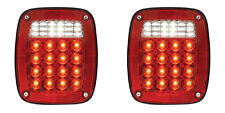 Universal Combination Truck Jeep Chevy GMC LED Taillamps Taillights  76-06 Pair