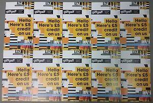 10 X GIFFGAFF SIM CARDS -TRIPLE CUT SIM CARD -*£5 FREE CREDIT