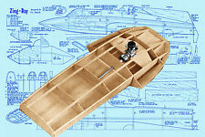 "Model Racing Boat Plans 27""  Hydroplane Radio Control Full size printed Plans"