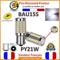 2 x Ampoule 33 LED BLANC BAU15S PY21W VOITURE Feux de Jour SMD Ampoules