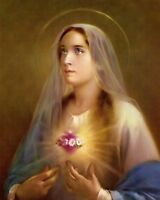 """Catholic print picture - IMMACULATE HEART 3  -  8"""" x 10"""" ready to be framed"""