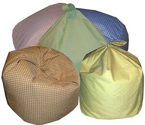 Gingham Check Bean Bag (Childrens Toddler Kids)