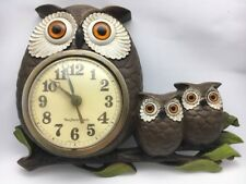 Wall Clock OWLS Battery Powered Wall Mount Burwood NEW HAVEN Vintage Mid Century