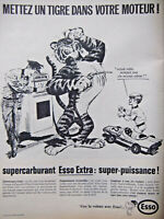 PUBLICITÉ DE PRESSE 1966 SUPERCARBURANT ESSO EXTRA SUPER-PUISSANCE - ADVERTISING
