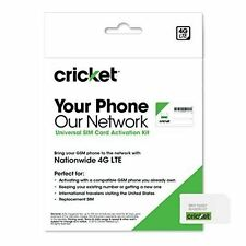 Cricket Wireless Complete Starter Pack Nano SIM Card with Standard and Micro