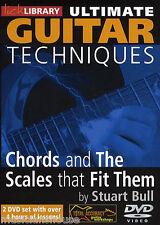 Lick Library acordes y escalas que encajen grandes menores Arpeggios Guitarra Dvd
