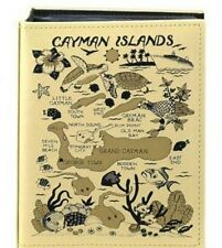 CAYMAN ISLANDS MAP EMBOSSED PHOTO ALBUM 100 PHOTOS/ 4x6