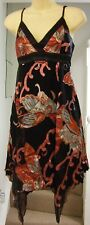 NEW BAY BLACK/RED PAISLEY SILK HANKERCHIEF DRESS Size 8
