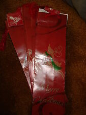 Wine Bags Merry Christms Red And Silver Lot Of 11