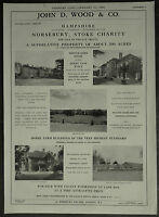 Norsebury House Stoke Charity Hampshire Estate Agent Details 1958 1 Page Advert