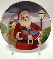 American Atelier Santa Claus 5052 Dessert Appetizer Plate Porcelain Design #2