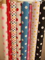 Spot Spotty Polka Dot Polycotton Fabric 112cm wide fabric