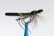 10 x Mouche Sèche Criquet Noir mousse H10/12/14 mosca fly fliegen foam locust