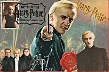 """Draco"" Harry Potter Stamp FDC on 4x6 Postcards DJSPhotoCollages"