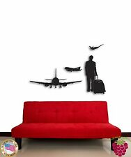 Wall Sticke Travel Airplanes Tourist Coolest Decor For Living Room  z1528