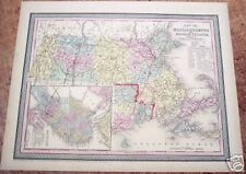"""Map of Massachusetts and Rhode Island"" by Cowperthwait"