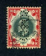Great Britain, Scott #138, Edward.VII, Used, Perfin, 1902