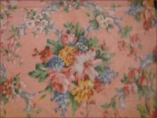 Vintage Heavy Duty Cotton Upholstery Chintz Blurred Flower Print Fabric 7m+