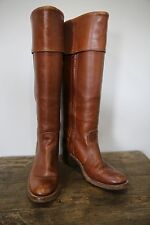 Frye Knee High Tan Brown Boots Campus  Boho Hippie Vintage 7.5 B