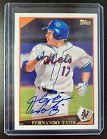2016 Topps Archives FERNANDO TATIS Autograph Signature #A65-FTA New York Mets