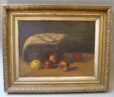 Jugendstil Ölbild Gemälde Stillleben Äpfel Obst England englisch London um 1900