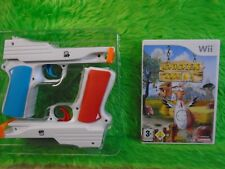 WII Chicken shoot + 2 PISTOLA ACCESORIOS Divertido Shooting Game Nintendo Pal RU
