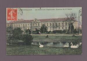 MONTPELLIER - Le jardin de l'esplanade et caserne du 2eme Génie   (K9112)