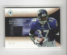 2005 Ultimate Platinum Deion Sanders Game Jersey PATCH Ravens 01/20