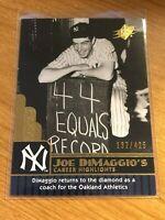2009 Upper Deck SPx Baseball Career Highlights #98 - Joe DiMaggio - Yankees