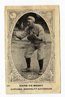 1922 Neilson's V61 Type 1  Baseball Card Hank De Berry Brooklyn Nationals