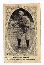 1922 Neilson's V61 Type 1  Baseball Card Hank De Berry Brooklyn Nationals