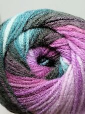 Purple Teal Swirl Gradient Batik Yarn 100g wool crochet knitting DK acrylic