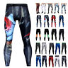 Mens Gym Sport Joggers Tight Compression Base Layer Pants Long Leggings Trouser