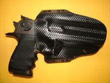 HOLSTER BLACK CARBON FIBER KYDEX FITS DESERT EAGLE 357 44 MAG 50 OWB