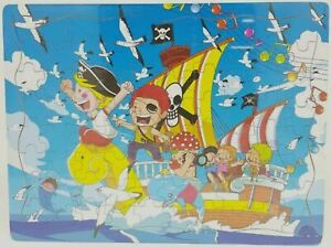 Wooden toddlers kids puzzle -pirates and ships