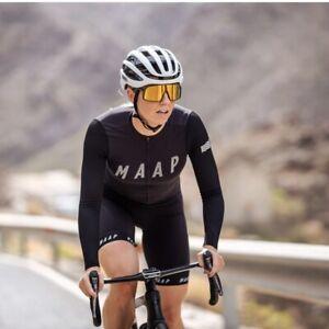 EUC! MAAP - Size M - Cycling Women's Echo Pro Base LS Jersey Black