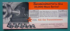 INK BLOTTER 1940s - DODGE Rolling Bearings Horsford Brothers Company California