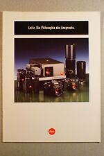 """LEICA Leitz """"Die Philosophie des Anspruchs"""", Prospekt 1986, 20 S., guter Zustand"""
