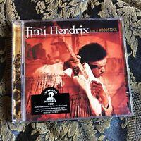 JIMI HENDRIX 2 x cd LIVE AT WOODSTOCK remastered + booklet and 5 bonus tracks