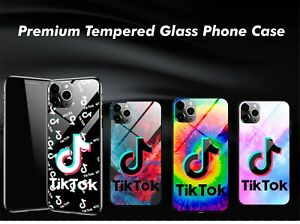 Tik Tok Fans Handmade HD Tempered Glass Phone Case Cover For iPhone 6 8 SE 11 X