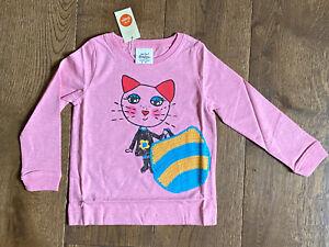 BNWT - Super Mini Boden Girls Pink Crochet Cat Kitten and Bag 2-3 Yrs