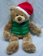 "Hallmark Cute ""North Pole"" Winter Teddy Bear 14"" Plush Stuffed Animal Christmas"