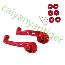 2 pcs 120*38mm Red Parts Aluminum Car SUV Windows Doors Winders Crank Handles