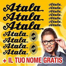 KIT VECCHIA ATALA 16 ADESIVI BICI CICLISMO STICKERS DECAL + NOME GRATIS