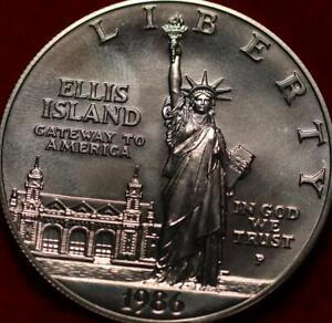 Uncirculated 1986-P Ellis Island Commemorative Silver Dollar