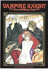 Vampire knight memo pad promo Kuran Kaname Kiryu Zero Cross Yuki anime