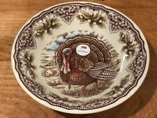 Victorian English Pottery Company Turkey Large Thanksgiving Serving Bowl NWT!