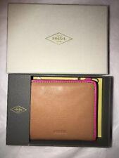BNIB Fossil Emma Mini Wallet/Purse. RFID Tan Leather. Gift Idea!